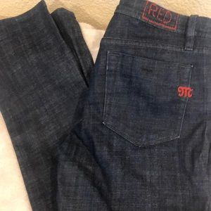 Red by Miss Me straight leg jeans size 31